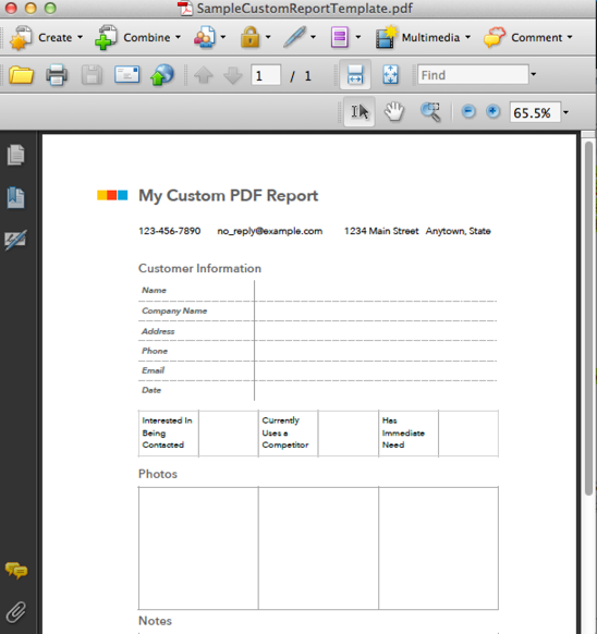 Custom PDF Reporting FastField Mobile Forms Help Center – Report Form Template